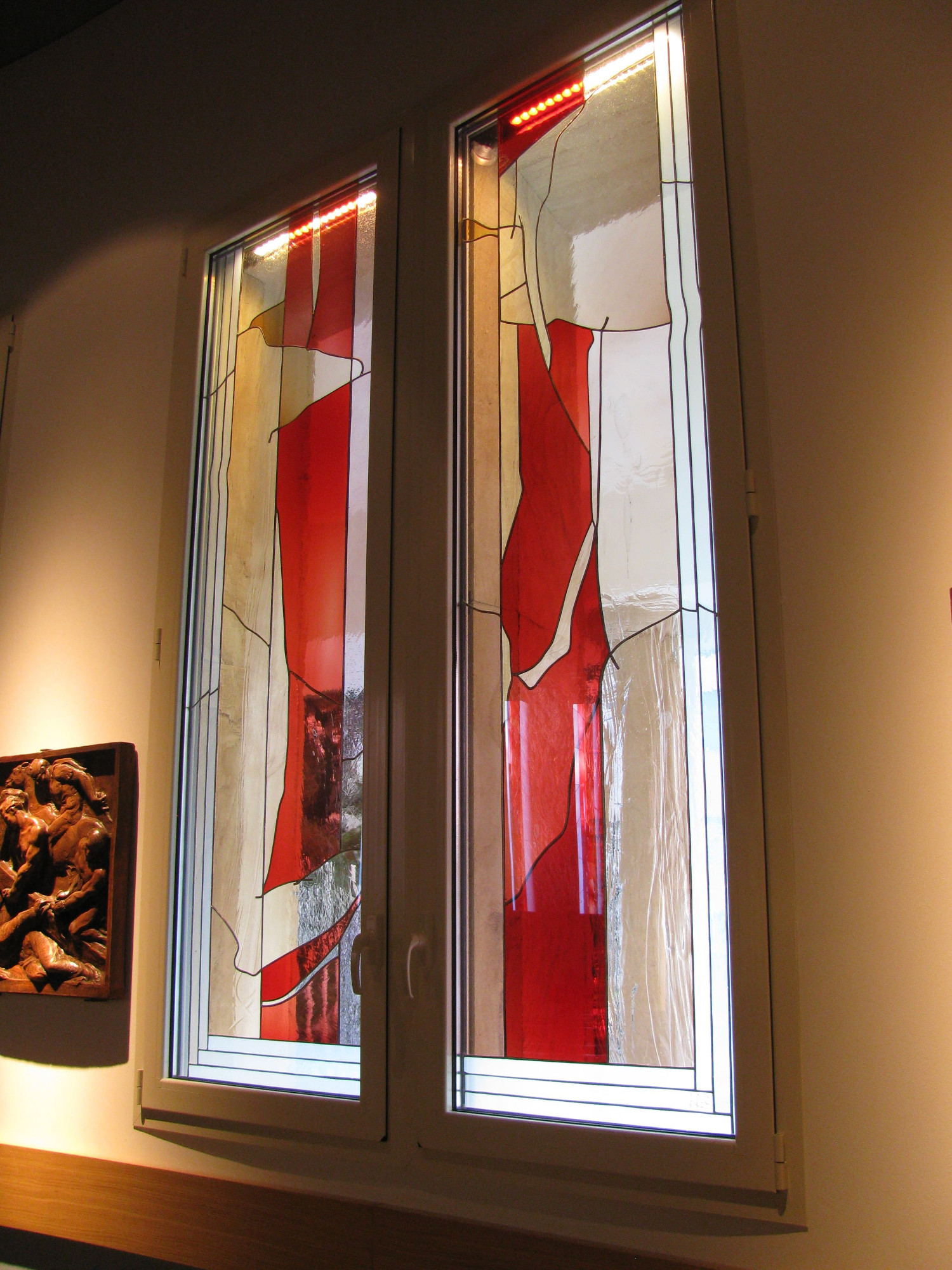 vetrata artistica chiesa don carlo gnocchi